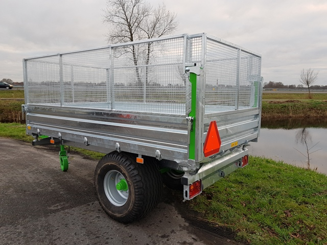 Zocon kipper optie gaasopzet, Netting extension tipping trailer, Gitteraufsatz Kipper, Rehausses grillagées Benne Basculante, Sobrelateral de rejilla Remolques