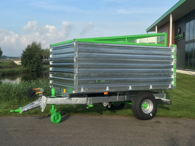 Zocon kipper optie snipperkap, Shreds cover tipping trailer, Aufsatz für Hackschnitzel Kipper, Capot de protection Benne Basculante, Capot de protection Remolques